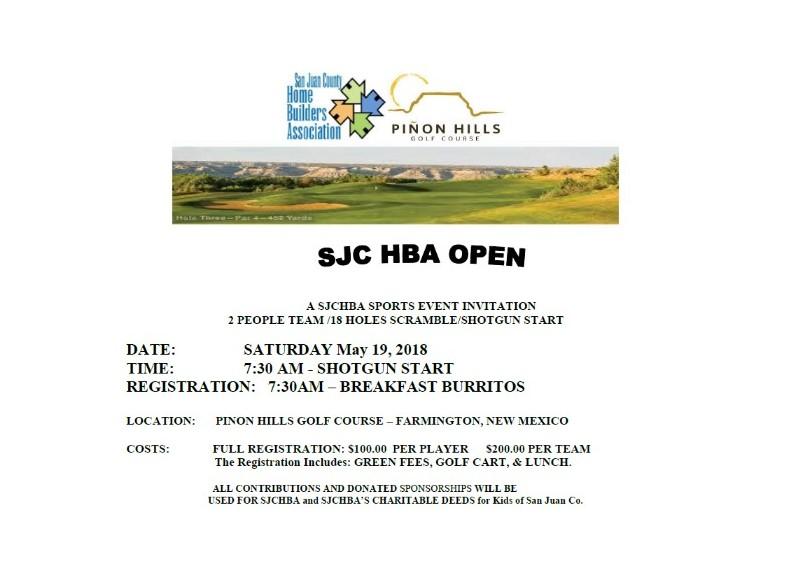 2018 SJC HBA OPEN INVITATION